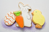 Assorted Easter biscuits (chick, Easter Bunny, carrot, egg)