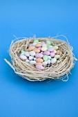 Sugar eggs in Easter nest