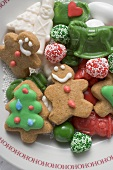 Christmas biscuits and sweets on plate