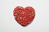 Chocolate heart with sprinkles