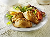 Pasties with salad
