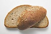 Slices of sesame bread