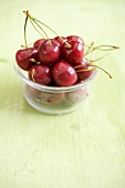 Cherries in plastic tub