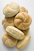 Various types of bread rolls