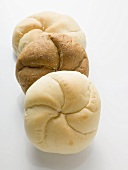 Three different bread rolls