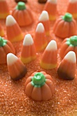 Sweets for Halloween (candy corn, pumpkin sweets)