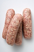 Four Nuremberg sausages