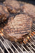 Beefsteaks on barbecue