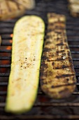 Courgettes on a barbecue