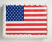 Stars and stripes cake for the 4th of July