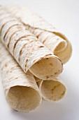 Unfilled tortilla rolls