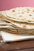 Tortillas, stacked
