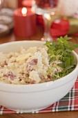 Mashed potato on Christmas table (USA)