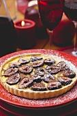 Vanilla fig tart for Christmas
