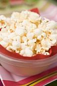 Popcorn in plastic bowl