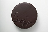 Sacher torte from above