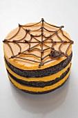 Pumpkin chocolate cake for Halloween