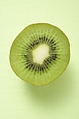 Half a kiwi fruit (overhead view)