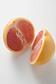 Pink grapefruit, halved lengthwise