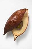 Salak fruit, halved