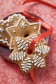 Gingerbread with red ribbon