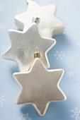 White stars to hang on the Christmas tree