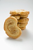 Several palmiers (puff pastry biscuits)