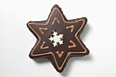 Star biscuit with chocolate icing