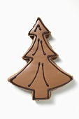 Fir tree biscuit with chocolate icing