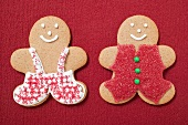 Two decorated gingerbread men
