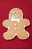 Gingerbread man with coloured sprinkles