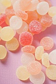Jelly sweets (overhead view)