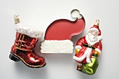 Sweet Father Christmas hat and Christmas tree ornaments