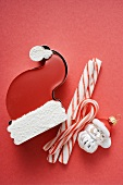 Sweet Father Christmas hat, candy canes & Christmas tree ornament