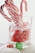 Candy canes, sugar stars and peppermints