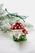 Christmas tree ornament (fly agaric)
