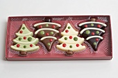 Chocolate Christmas trees in packaging