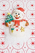 Snowman with sugar (Christmas sweet)