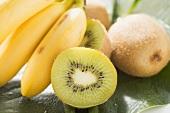 Kiwi fruit and bananas