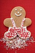 Gingerbread man with sprinkles