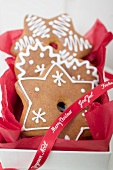 Decorated gingerbread to give as a Christmas gift