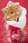 Gingerbread stars in red boot