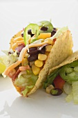 Tacos filled with sweetcorn and beans