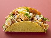 Chicken taco (red background)