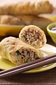 Spring rolls with mince filling (Asia)