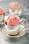 Turkish Delight with flaked almonds in mocha cups