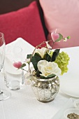 Floral decoration for a romantic dinner
