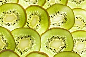 Kiwi fruit slices (backlit)