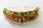 Taco with mince filling