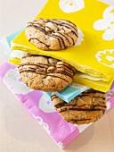 Macadamia biscuits between paper napkins